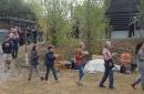 Transport des vases après consécration vers le stoupa