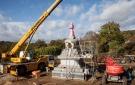 The finished stupa