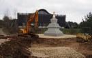 Landscaping Around the Stupa Has Begun !