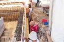 Réalisation du ferraillage et du coffrage de l'enceinte extérieure