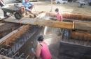 Réalisation d'une forme (remplissage entre les deux enceintes) en calcaire