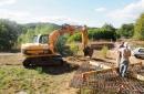 Début du terrasement des fondations (réalisation de la fouiille)
