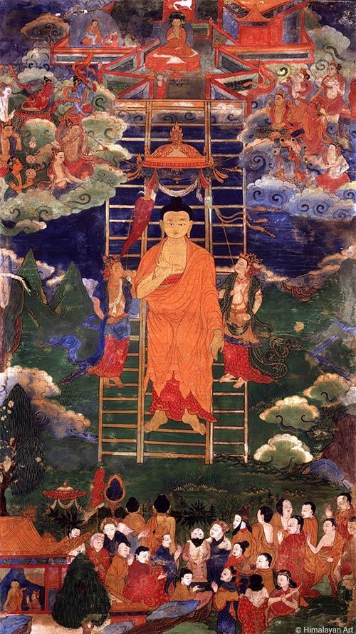 Nous commémorons ce jour le retour du Bouddha depuis les mondes divins de Tushita
