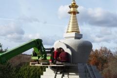 L'arrivée de la statue de Shamar Rinpoché
