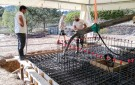Applying the Concrete of the Upper Slab