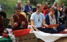 Ceremonia de consagración de las vasijas en la primera cámara