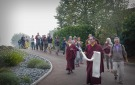 Transportation of the Vases to the Stupa Following Consecration