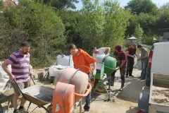 Preparación  del  hormigón  para  el  pavimento