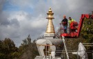 Uncovering of the finished stupa