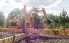 Preparación de la armadura de la plataforma para instalar en el fondo de los cimientos. (Creación de una barra de carga para la manipulación de la armadura de la plataforma).