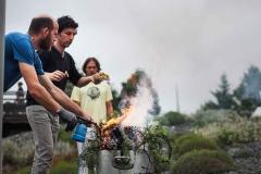 Práctica de ofrenda y de purificación por el fuego