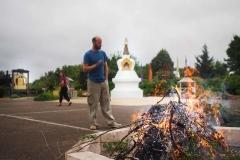 Pratique d'offrande et de purification par le feu