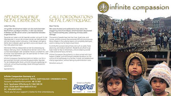 Un visuel de la Fondation Infinite Compassion