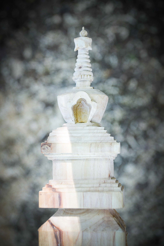 The stupa, at the head