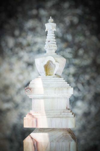 La estupa, en la cima