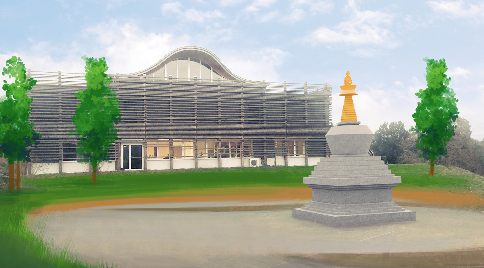 consécration du stoupa des reliques de Shamar Rinpoché