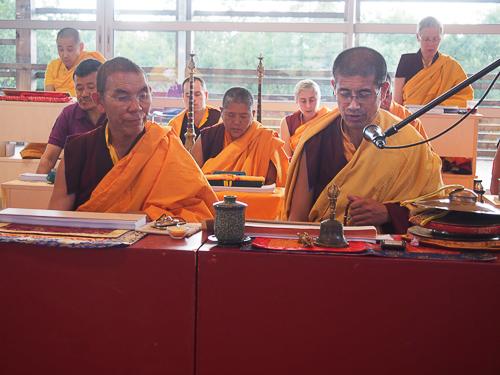 Lama Jampa et Lama Wangdu
