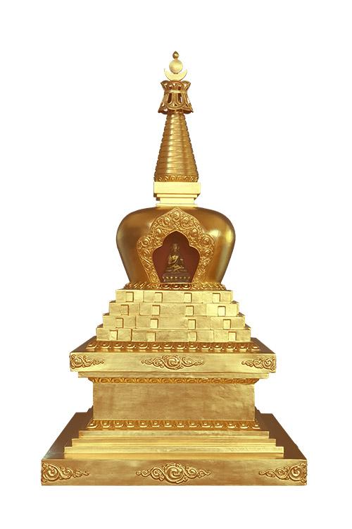 Le stoupa de la mise en mouvement de la roue du Dharma   ཆོས་འཁོར་མཆོད་རྟེན།