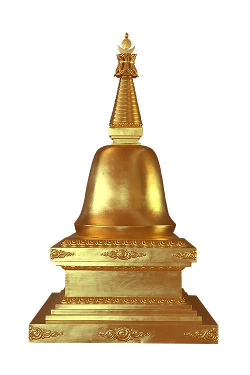Le stoupa du parinirvana  མྱང་འདས་མཆོད་རྟེན།